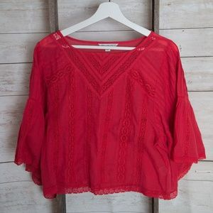 American Eagle Cropped Tunic Blouse